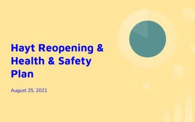 Hayt Reopening: Health & Safety Plan