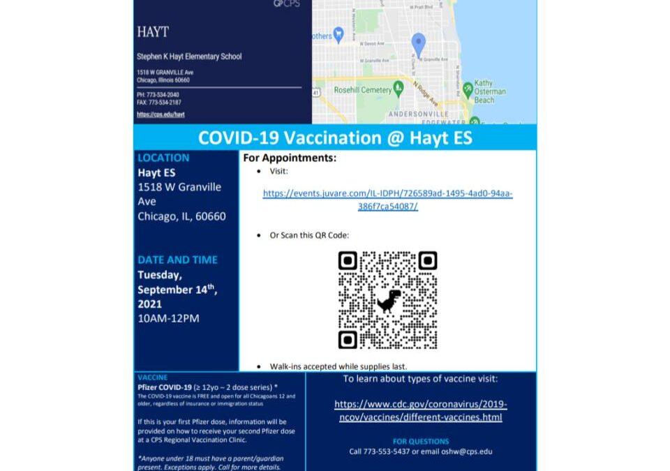 Covid Vaccination at Hayt 9/14